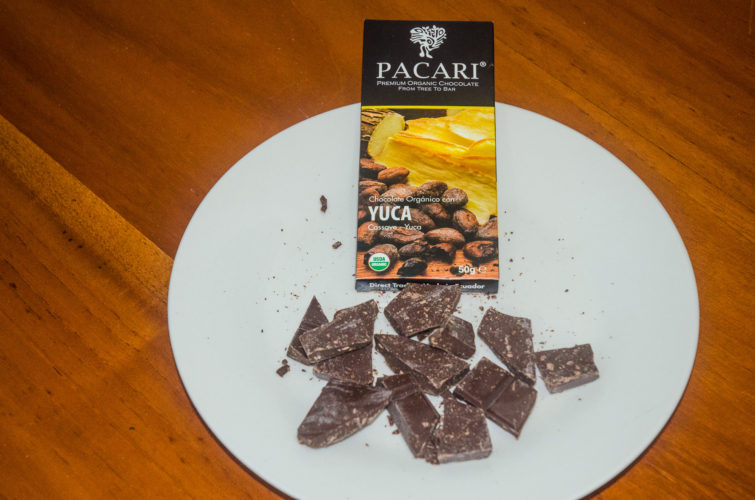 Crunchy Yuca flavored Pacari Chocolate