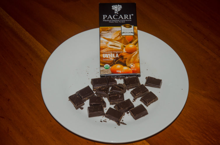 Goldenberry flavor chocolate from Pacari