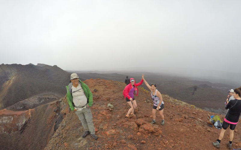 Success! On top of a Galapagos Volcano.