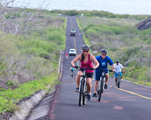 Biking in the Galapagos