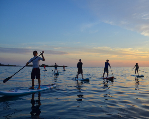 Sunset SUP in Galapagos